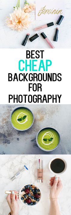 Best Cheap Backdrops for Photography - $25 or less! Great for food photography, blogging and social media.