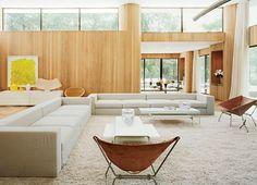 paredes revestidas de madeira