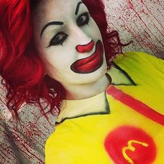 Grab your face paint and transform into Ronald McDonald