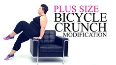 Bicycle Crunch Exercise Modification - plus size - workout - episode 9
