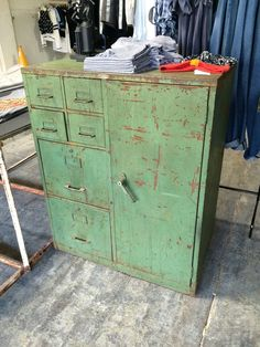 Industrial Green Cole Steel Storage Unit by weareCURIO on Etsy