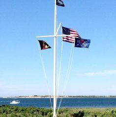 #Wedding weekend flag with a #custom #monogram for a #Nantucket wedding I Custom by Nico and Lala
