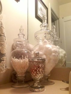 Mercury Glass and Apothicary jars