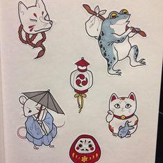 Resultado de imagen para japanese frog tattoo