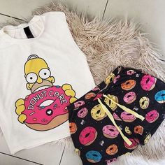 Lazy Outfits, Couple Outfits, Cute Girl Outfits, Outfits For Teens, Cute Pajama Sets, Cute Pjs, Cute Pajamas, Girls Fashion Clothes, Fashion Outfits