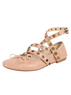049b393fa778f1 Butter Shoes · Update your basic ballet with this on-trend version with  grommet wrap and studded ankle