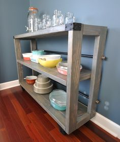 DIY Dining Cart.  Great storage idea!  Love the special design touches!