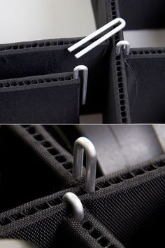 TrekPak has designed a better system of user-configurable gear protection : velcro-free padded sections that use simple U-shaped pins and exposed sidewalls as connection points