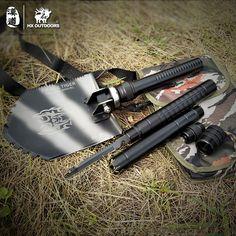 Camping Shovel Survival Spade Outdoor Knife Multifunction Folding Shovel Tactical Hunting Military Carbon Steel Sapper Shovels