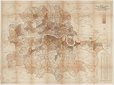 Maps: Booth's map of London 1889  http://www.guardian.co.uk/theobserver/gallery/2012/jun/10/antique-maps-fair-royal-geographic?CMP=twt_gu#