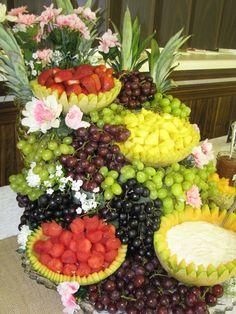 Fruit center pieces on pinterest fruit displays fruit centerpieces