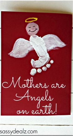 10 DIY craft gift ideas for mum for Mother's Day - Mothers are angels card…