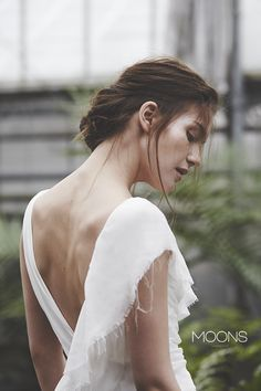MOONS  [ hene ] model.  MOONS wedding dress -  a sensual mixture of minimalism with romanticism philosophy. made in Poland.