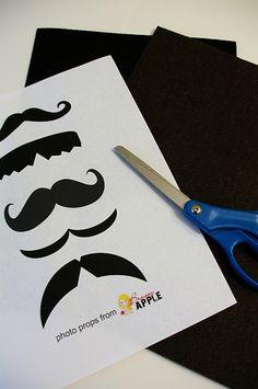 Brassy Apple: Mustache photo Prop printable gift