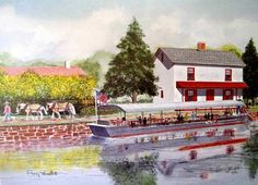 Craig Hackett of Bucks County Expressions offers beautiful paintings of Bucks County historical buildings, homes, churches, farms and familiar Bucks County scenes. This one is of the Locktender's House in New Hope.