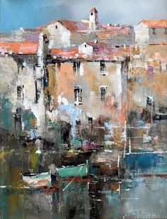 Branko Dimitrijevic - Sea View, Oil on canvas, 40x30cm