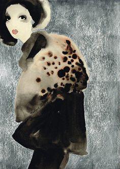 """Bridget Davies: """"Leopard Shawl"""""""