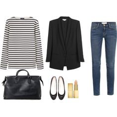 Minimal + Classic: Striped Casual, created by trenchcoatandcoffee