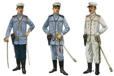 Look back on the early uniforms of the Philippine Army, standardized by the director of war, Gen. Antonio Luna and designed by his brother, Juan Luna. Philippines Fashion, Philippines Culture, Filipino Art, Filipino Culture, Military Art, Military History, Manila, Philippine Army, Filipino Fashion
