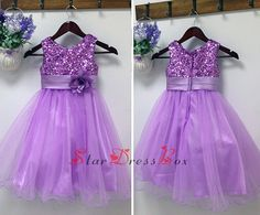 New!!! Purple Sequin  Tulle Flower Girl dresses Junior bridesmaid Party Homecoming Birthday dresses