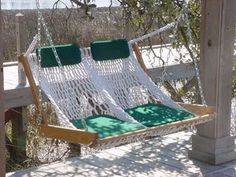Outer Banks Hammocks Rope Porch Swing