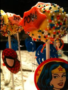 Superhero Cake Pops