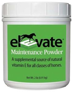 Elevate Natural Vitamin E, 2 Lb by Kentucky Performance Products. $52.27. For cattle.. A supplemental source of natural vitamin e for all classes of horses. Feed daily at a rate of 100-500 iu per 100lb of body weight. The feeding level depends on the type of horse, level of activity, and nutritional and management practices that affect vita.  9-Alpha Tocopherol Acetate (Natural Vitamin E) And Dextrose.