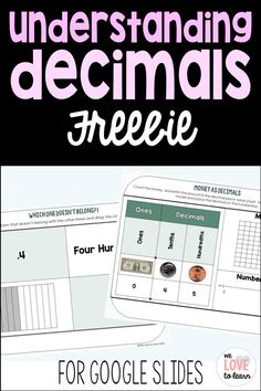 This set of decimal activities is designed for 4th grade students to have extra time to reinforce their introduction to decimals. The Google Slides version is self-checking which allows for immediate feedback so students can reflect on their understanding of decimals. Click here to see it in my TPT store! #decimals #placevalue #distancelearning #mathactivities