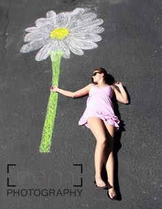 Daisy   Chalk Art by flossie