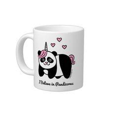 Je crois au Pandicorns - licorne de panda Mugs Extra Larges