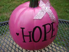 PINK HOPE Pumpkin – Breast CancerAwareness