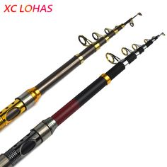 Exclusive Quality Carbon Fiber Telescopic Fishing Rod 2.1/2.4/2.7/3.0/3.6m High Performance Sea Fishing Pole Tackle Yuelong free shipping worldwide