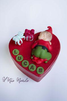 Boîte à dent rouge lutin et cadeaux en Fimo (pâte polymère): Créé par Il Mio Mondo : https://www.facebook.com/ilmiomondo26