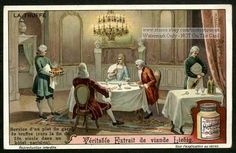 French Aristocrats 1700  Dining On Truffles c1910 Card