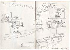 lucinda rogers pencil drawing sketchbook new york city