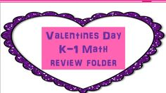 Valentine Math Review for K-1