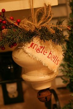 Under The Table and Dreaming: Recycled Dresser Foot Bell Ornament by Jennie at Cinnaberry Suite {Ornament No. 15}