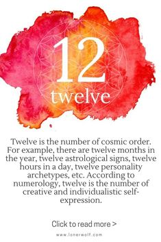 The mystical meaning of number 12
