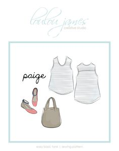 easy tank top pattern Paige basic tank by louloujamescreative Pdf Sewing Patterns, Free Sewing, Sewing Clothes, Diy Clothes, Ladies Clothes, Pregnancy Band, Sewing Hacks, Sewing Tips, Sewing Ideas