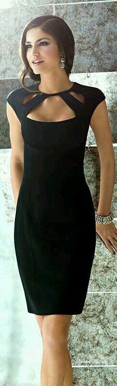 Creo que a todas nos vendria bien un vestido de color negro...!!!