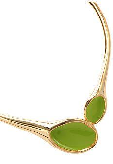 Robert Lee Morris Lime Green Collar Necklace