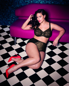 Sexy Vintage Plus Size Bra - Raquel by Elomi. Available up to JJ cup. 4b3056773ea42