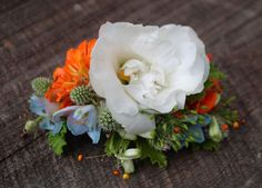 Floral comb - would use yellow instead of orange for yours
