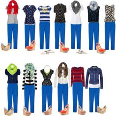 Capsule Wardrobe - blue trousers.