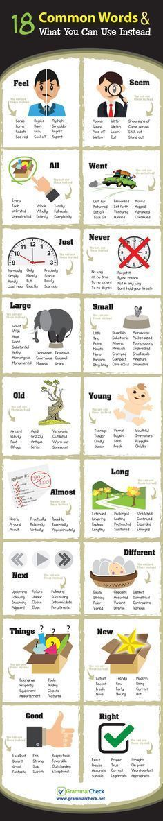 Educational infographic : 18 Common Words & What You Can Use Instead (Infographic) #EducationalInfographics