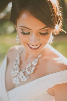 elegant wedding makeup - and gorgeous accessories!