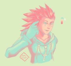 axel kingdom hearts kh pastel