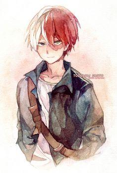 My Hero Academia (僕のヒーローアカデミア) - Shouto Todoroki (轟 焦凍) Boku No Hero Academia, My Hero Academia Memes, Hero Academia Characters, My Hero Academia Manga, Manga Anime, Anime Guys, Chibi, Estilo Anime, Animes Wallpapers