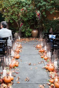 Chic Fall Wedding Aisle Decor Ideas - crazyforus - Our black Rainbow wedding. 25 Chic Fall Wedding Aisle Decor Ideas - crazyforus - Our black Rainbow Chic Fall Wedding Aisle Decor Ideas - crazyforus - Our black Rainbow wedding. Wedding Aisles, Wedding Ceremony Ideas, Wedding Aisle Decorations, Wedding Receptions, Wedding Arrangements, Halloween Wedding Decorations, Fall Wedding Table Decor, Halloween Weddings, Wedding Ideas For Fall