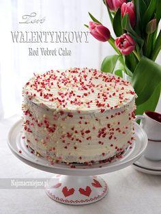 Tort Walentynkowy, tort, walentynki, krem mascarpone, http://najsmaczniejsze.pl #food #walentynki #cake